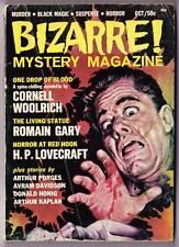 BIZARRE MYSTERY MAGAZINE October 1965 - H.P. Lovecraft, Cornell Woolrich