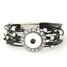 Fits Ginger Snap Ginger Snaps Black Magnetic Bracelet Magnolia Jewelry 18mm