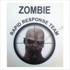 Zombie RRT Undead Decal - White Car Truck Sticker Rapid Response Team Apocalypse