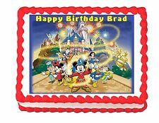 Mickey Mouse Disney World Disney Land edible cake image decoration cake topper