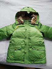 kid's down coat, color: green, brand: pawinpaw, size 110/56 for 3-5 years