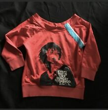 PARASUCO Red Everyday is Sunday Shirt Blouse Woman's Medium