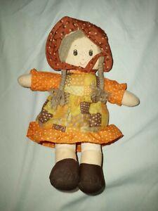 "Vintage Cuddle Wit HOLLY HOBBIE Stuffed Rag Doll 10"""
