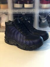 6eabbcf0a5a57 New Mens Nike AIR MAX FOAMDOME Boots -Black Purple Foamposite 843749 500 -Sz