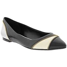 Banana Republic Womens Black Cream Cacey Zip Pointed Toe Dress Shoes US 6