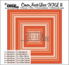 Crealies Crea-nest-Lies XXL Set No.8 SQUARE BASIC Cutting Dies CLNest08XXL