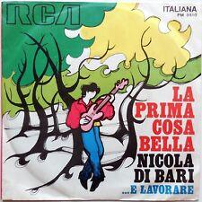 DISCO VINILE 45 GIRI NICOLA DI BARI LA PRIMA COSA BELLA E LAVORARE ITALY 1970