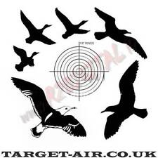BERSAGLIO 14x14 TARGET-AIR UCCELL CARTONCINI 50Pz SAGOMA SOFTAIR AIRGUN PIOMBINI