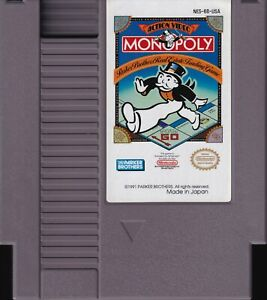 MONOPOLY (1991) nes nintendo board game parker brothers us NTSC USA IMPORT