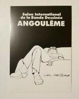 Carte postale salon international de la BD Angoulême Bretecher