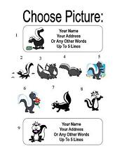 30 Cartoon Skunk Personalized Address Labels