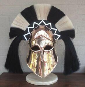 18 gauge Steel Copper Coated Medieval Greek Corinthian Helmet Spartan Helmet TV