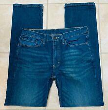 Levi 514 Mens Slim Straight Leg Blue Jeans size 34x34 34