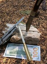 Bullet brass 30-30 Shell handle knife sharpener Arkansas Ceramic 3/8  Rod AC72