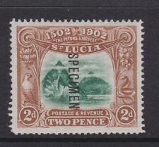 """ST. LUCIA - 1902 """"PITONS"""" 2d OVPT. """"SPECIMEN"""" MINT SG.63s  (REF.D149)"""