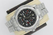 Mens Tag Heuer 6000 CH1116 Black Chronograph SS Watch F1 Special Edition 1/500