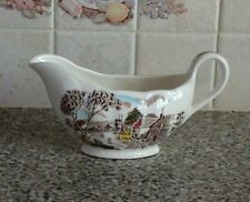 "W.H.Grindley England ""SundayMorning"" range Gravy Boat 8"" long"