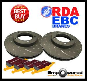 DIMPL SLOTTED REAR DISC BRAKE ROTORS + PADS for Jaguar XKR V8 X150 1/2010-5/2015