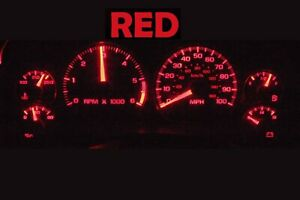 Gauge Cluster LED Dashboard Bulbs Red For Chevy Blazer S10 GMC Jimmy 01 05
