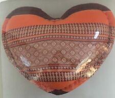 Thai Handmade Cushion Handicraft Pillow Heart Shape kapok 100 %