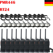 10XRetevis RT24 PMR Funkgeräte UHF Scan CTCSS/DCS VOX TOT Radio+Mic&Earpiece