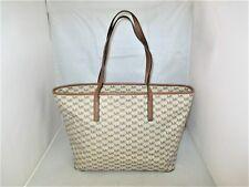 72220263b7df Michael Kors Emry Large MK Signature Top Zip Tote, Shoulder Bag $328 Natural