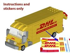 Instructions Stickers 4 LEGO DHL Delivery Truck 60074 10185 10133