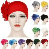 Women's Big Flower New Cancer Chemo Hat Turban Cap Cover Hair Loss Head Scarf UK