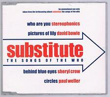 SUBSTITUTE EP THE SONGS OF THE WHO DAVID BOWIE PAUL WELLER CD SINGOLO SINGLE cds
