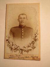 Würzburg-Norimberga-Fürth-Soldato in Uniforme-KB IR n. 21-Portrait/CDV