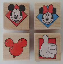 New listing Disney Mickey Mouse Rubber Stamps Rubber Stampede Balloon Thumb's Up Minnie Pose
