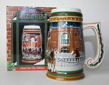 1997 Budweiser Holiday Stein - Home for the Holidays Stein - Cs313
