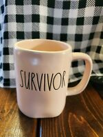 "Rae Dunn by Magenta New 2019 L/L ""SURVIVOR"" ALL-PINK Coffee Mug Rare HTF"
