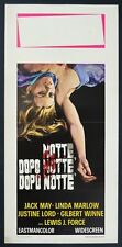 LOCANDINA, NOTTE DOPO NOTTE Night After Night J. FORCE, WYNNE, POSTER AFFICHE B