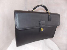 COACH Fold-Over Briefcase 5214  Brass Black Never Used Vintage