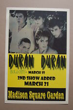 Duran Duran Concert Tour Poster 1984 Madison Square Garden