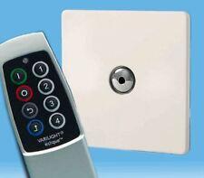 V-Pro Ir, 1 Gang Remoto/Toque Dimmer LED, control remoto de escena sin tornillos Premium Blanco Y