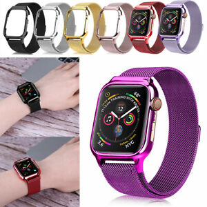 Milanese Stainless Steel Loop band & case For Apple Watch Series 6/5/4/3/2 Strap
