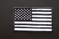 USA AMERICAN FLAG TACTICAL MORALE MILITARY BLACK OPS SWAT PATCH W/HOOK FASTENER