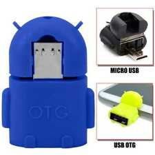 OTG Micro USB Adapter ON THE GO Android Robot Blue for Samsung Xiaomi LG Blue