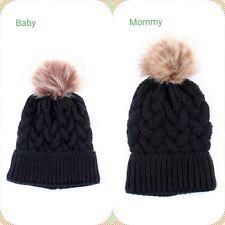 Sale Mommy And Me Beanies,Women Kids Girls Baby Knit Hat Winter Warm Cozy Beanie