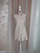 Forever 21 Ladies Size L Cream Mix Lace Skater Dress