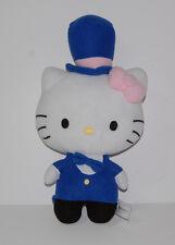 "Hello Kitty 14"" Plush Animal Circus Ringmaster Blue Pink Bow Stuffed Sanrio"