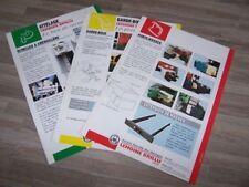 Lot de 3 Prospectus/Brochure/Prospekt agricoles/tracteurs LEMOINE BRILLU (515)