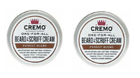 Lot of 2 - CREMO ONE-FOR-ALL BEARD & SCRUFF CREAM - Forest Blend Scent - 4 oz