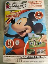 COLORFORMS DISNEY MICKEY MOUSE STICKER STORY ADVENTURE SET OVER40 COLORFORMS NEW
