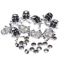 20x Antique Pirate Skull Crossbone Studs Rivets Grommet Eyelet Leathercraft