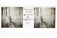 Lieutenant CrochetPhoto Amateur Plaque de verre stereo 1918