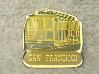 """VINTAGE SNCO 1982 SAN FRANCISCO TROLLEY 1"""" METAL & ENAMEL LAPEL HAT TIE PIN"""