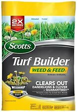 Scotts Turf Builder Weed & Feed Fertilizer 5M Clear Dandelion Clover Lawn Ga...
